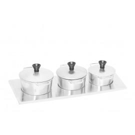 Jogo - Caçarolas - Miniatura - Alumínio Fundido